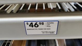 Storage rack barcode